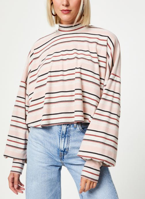 Vêtements Free People STEPH TEE NEUTRAL Rose vue détail/paire