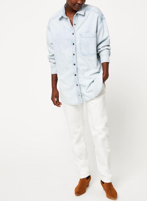 Vêtements Free People ECHO ROCK CHAMBRAY BUTTON INDIGO Bleu vue bas / vue portée sac