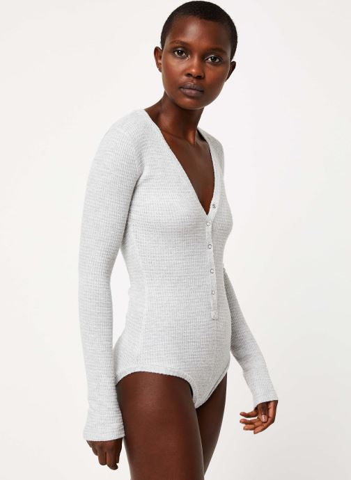 Vêtements Free People KEEP YOUR COOL BODYSUIT Gris vue droite