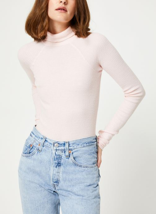 Vêtements Free People ALL YOU WANT BODYSUIT Rose vue détail/paire