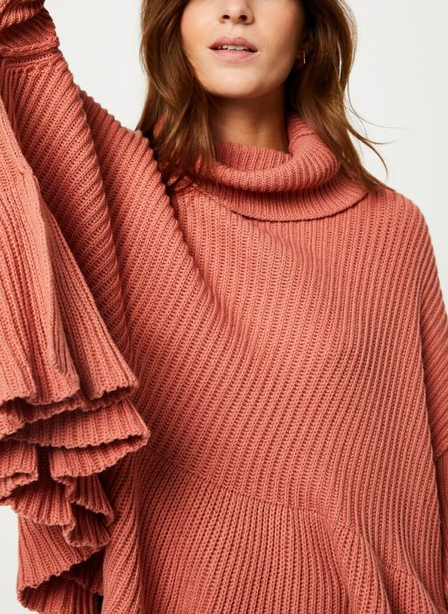 Vêtements Free People LAYER CAKE SWEATER Rose vue face