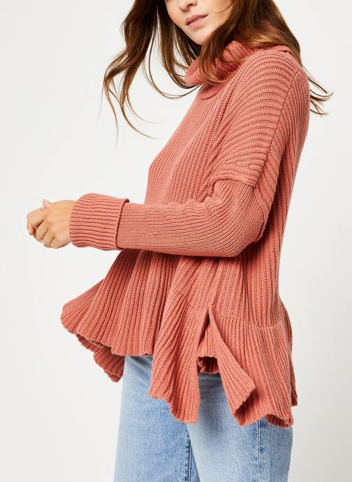 Vêtements Free People LAYER CAKE SWEATER Rose vue droite
