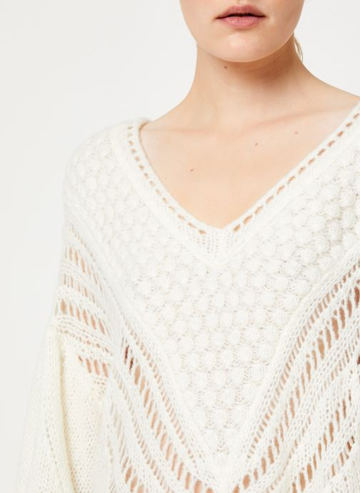 Vêtements Free People SNOWBALL SWEATER Blanc vue face