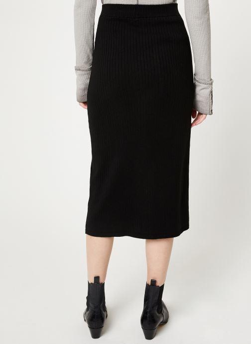 Vêtements Free People SKYLINE MIDI Noir vue portées chaussures
