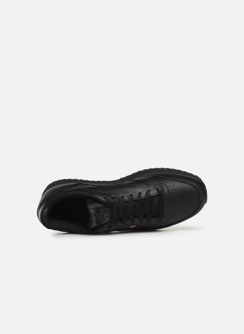 Sneaker Reebok Classic Leather Ripple Mu schwarz ansicht von links