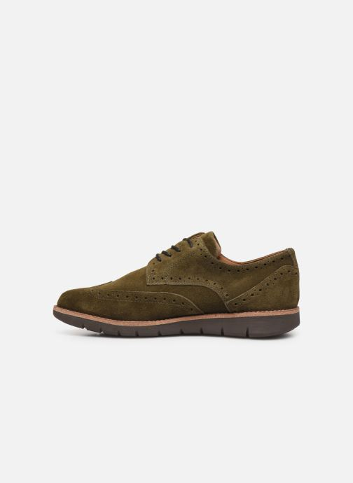 Chaussures à lacets Schmoove Echo Brogue Suede Vert vue face