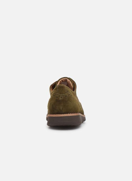 Chaussures à lacets Schmoove Echo Brogue Suede Vert vue droite