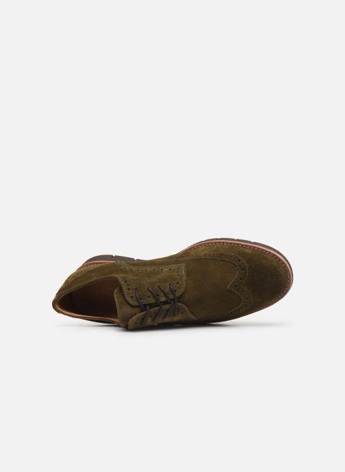 Chaussures à lacets Schmoove Echo Brogue Suede Vert vue gauche