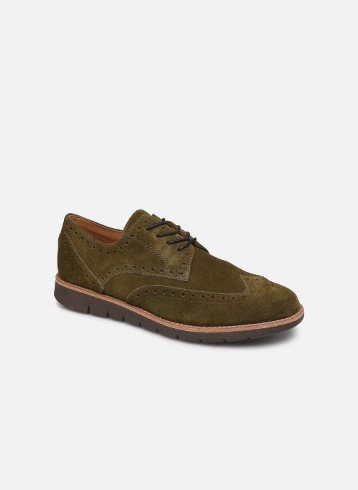 Chaussures à lacets Schmoove Echo Brogue Suede Vert vue détail/paire