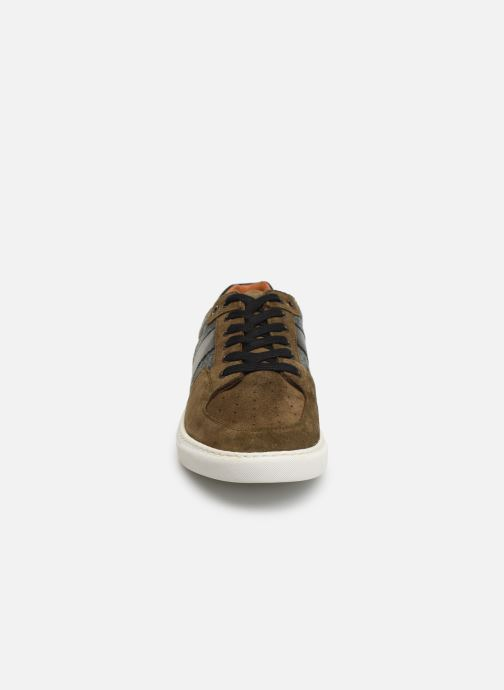 Trainers Schmoove Cup Tennis Suede Green model view