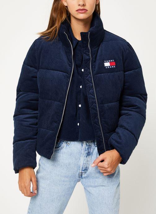 Vêtements Tommy Jeans TJW CORD PUFFA JACKET Bleu vue détail/paire