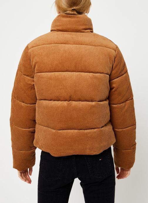 Kleding Tommy Jeans TJW CORD PUFFA JACKET Bruin model