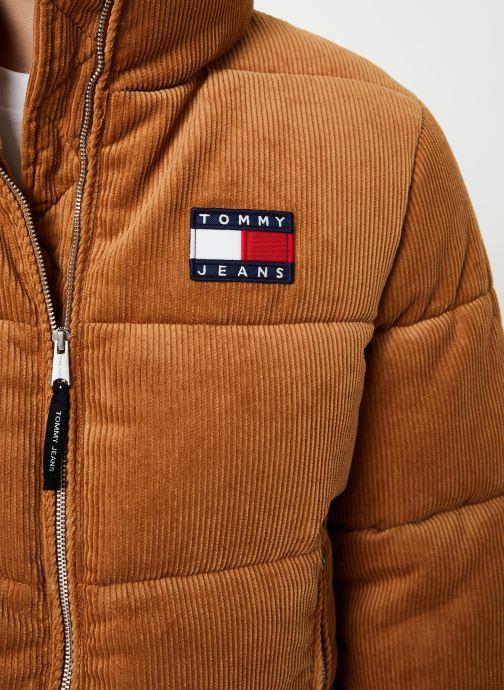 Vêtements Tommy Jeans TJW CORD PUFFA JACKET Marron vue face