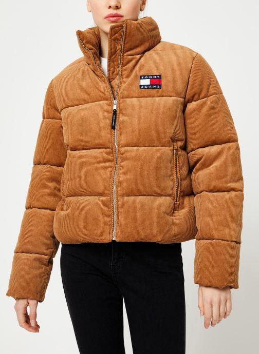 Vêtements Tommy Jeans TJW CORD PUFFA JACKET Marron vue détail/paire
