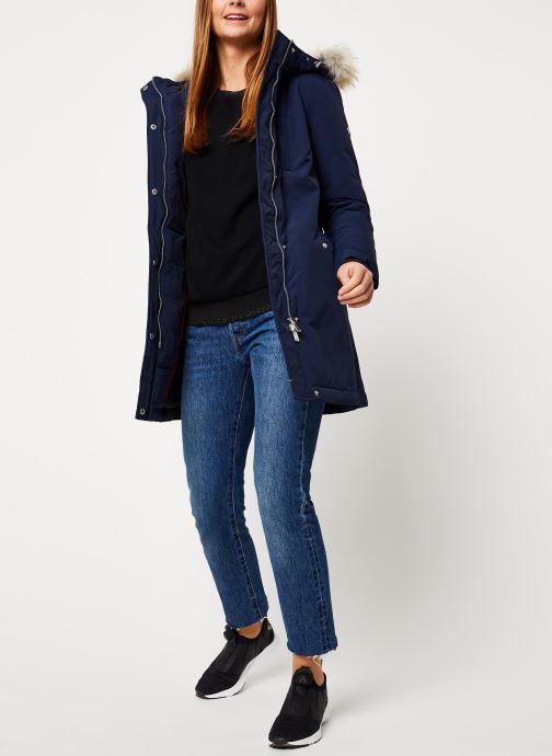 Vêtements Tommy Jeans TJW TECHINCAL DOWN PARKA Bleu vue bas / vue portée sac