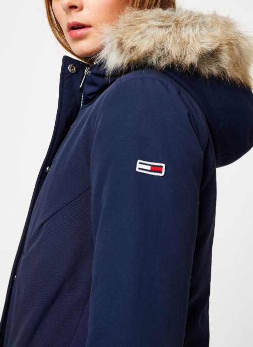 Vêtements Tommy Jeans TJW TECHINCAL DOWN PARKA Bleu vue face