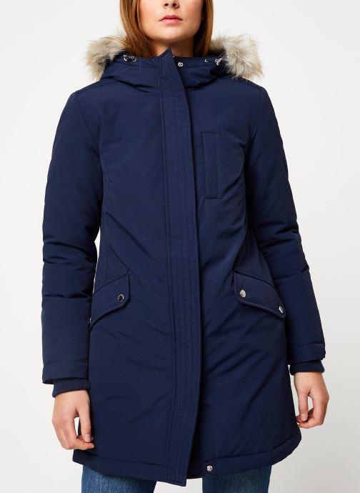 Vêtements Tommy Jeans TJW TECHINCAL DOWN PARKA Bleu vue droite