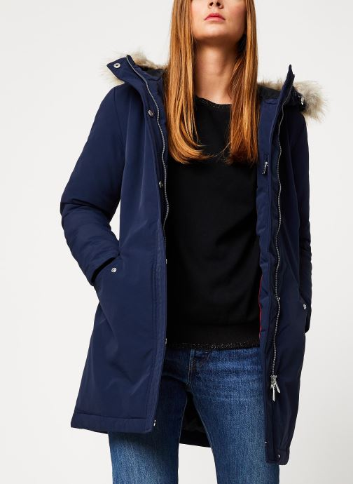 Vêtements Tommy Jeans TJW TECHINCAL DOWN PARKA Bleu vue détail/paire