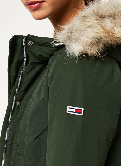 Vêtements Tommy Jeans TJW TECHINCAL DOWN PARKA Vert vue face