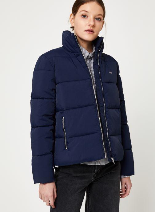 Vêtements Tommy Jeans TJW TOMMY DETAIL PUFFA JACKET Bleu vue détail/paire