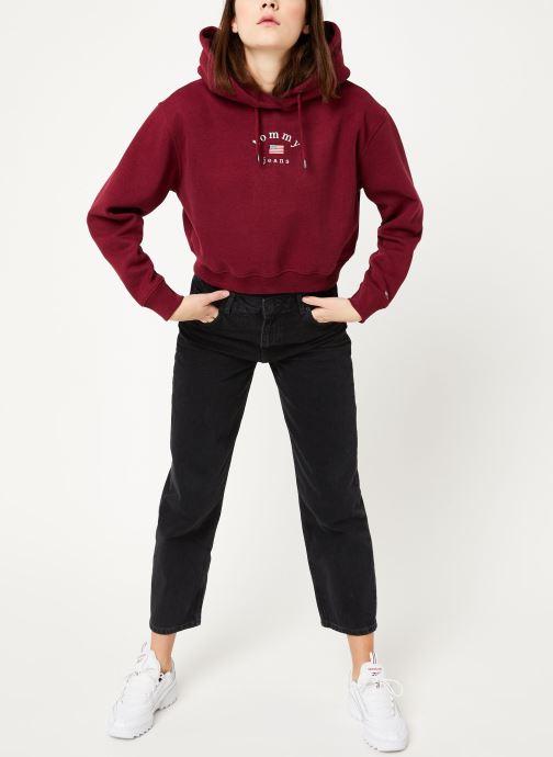 Vêtements Tommy Jeans TJW MODERN LOGO HOODIE Bordeaux vue bas / vue portée sac