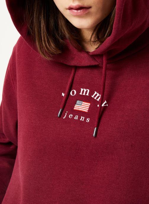 Vêtements Tommy Jeans TJW MODERN LOGO HOODIE Bordeaux vue face