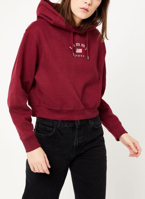 Vêtements Tommy Jeans TJW MODERN LOGO HOODIE Bordeaux vue droite