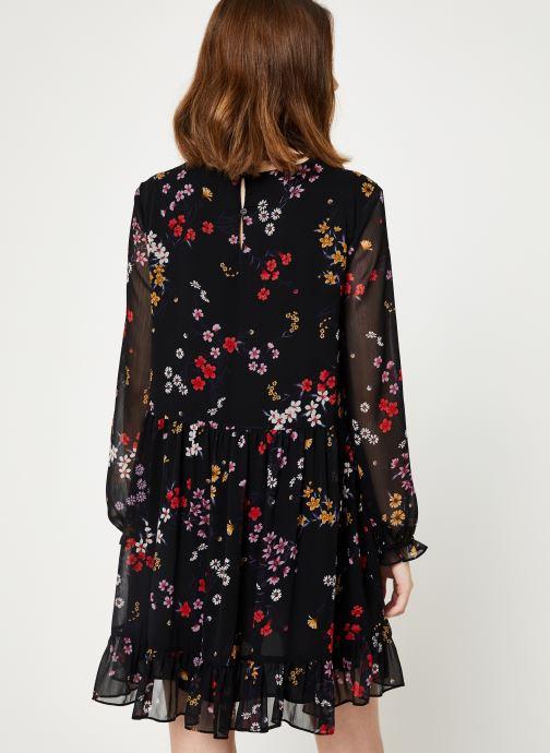 Kleding Tommy Jeans TJW TIERED A-LINE DRESS Zwart model