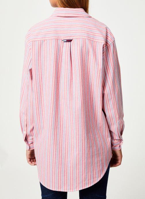 Kleding Tommy Jeans TJW WASHED MULTISTRIPE SHIRT Rood model