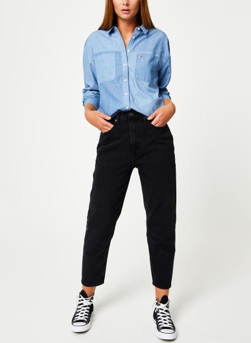 Tøj Tommy Jeans TJW WASHED CHAMBRAY SHIRT Blå se forneden