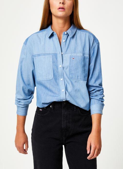 Tøj Tommy Jeans TJW WASHED CHAMBRAY SHIRT Blå Se fra højre