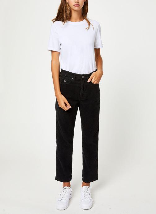 Vêtements Tommy Jeans TJW HIGH RISE STRAIGHT CROP 1990 Noir vue bas / vue portée sac