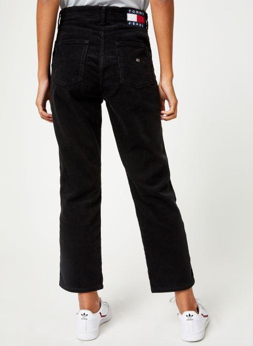 Vêtements Tommy Jeans TJW HIGH RISE STRAIGHT CROP 1990 Noir vue portées chaussures