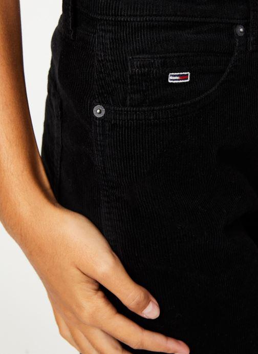 Vêtements Tommy Jeans TJW HIGH RISE STRAIGHT CROP 1990 Noir vue face