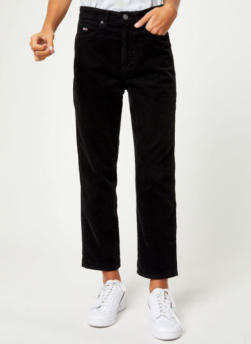 Vêtements Tommy Jeans TJW HIGH RISE STRAIGHT CROP 1990 Noir vue détail/paire
