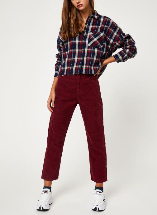 Vêtements Tommy Jeans TJW HIGH RISE STRAIGHT CROP 1990 Bordeaux vue bas / vue portée sac