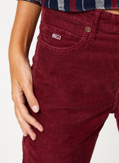 Vêtements Tommy Jeans TJW HIGH RISE STRAIGHT CROP 1990 Bordeaux vue face