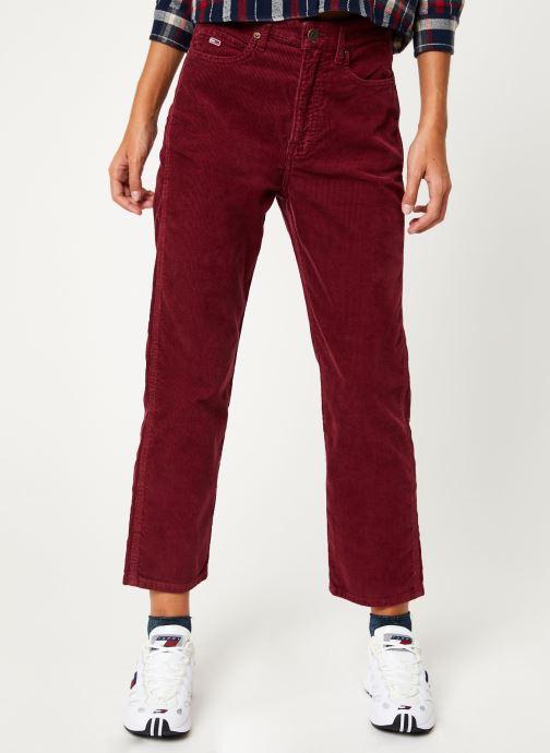 Vêtements Tommy Jeans TJW HIGH RISE STRAIGHT CROP 1990 Bordeaux vue détail/paire