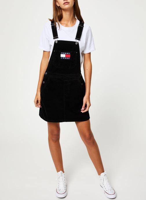 Vêtements Tommy Jeans TJW DUNGAREE DRESS Noir vue bas / vue portée sac