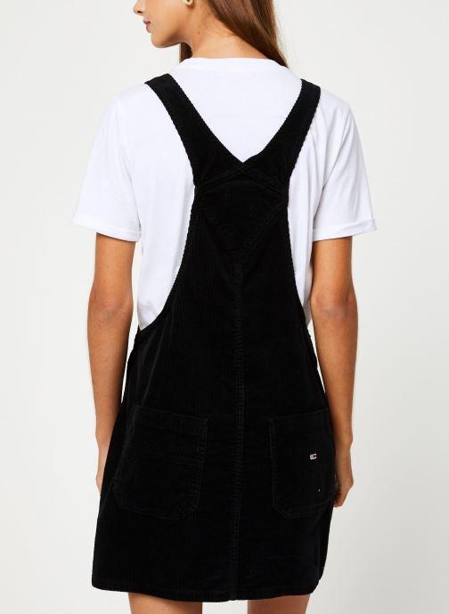 Vêtements Tommy Jeans TJW DUNGAREE DRESS Noir vue portées chaussures
