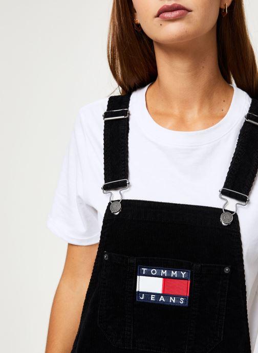 Vêtements Tommy Jeans TJW DUNGAREE DRESS Noir vue face
