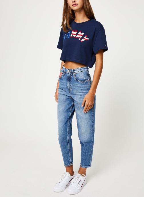 Vêtements Tommy Jeans TJW HIGH RISE TAPERED TJ 2004 Bleu vue bas / vue portée sac