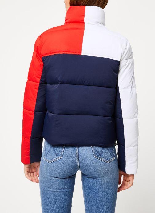 Kleding Tommy Jeans TJW COLORBLOCK PUFFA JACKET Blauw model