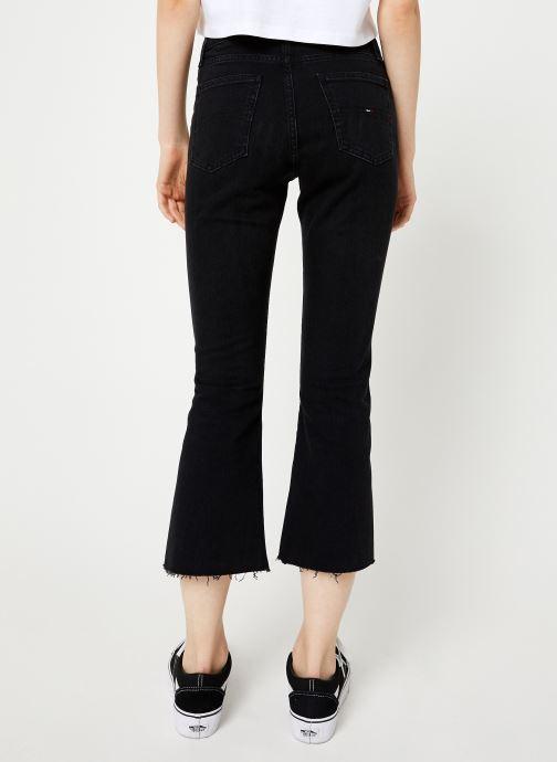 Vêtements Tommy Jeans TJW CROP FLARE BFLB Noir vue portées chaussures