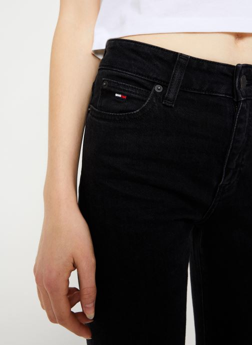 Vêtements Tommy Jeans TJW CROP FLARE BFLB Noir vue face