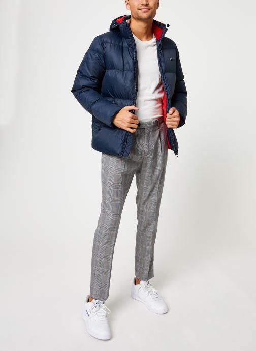 Vêtements Tommy Jeans TJM ESSENTIAL DOWN JACKET Noir vue bas / vue portée sac
