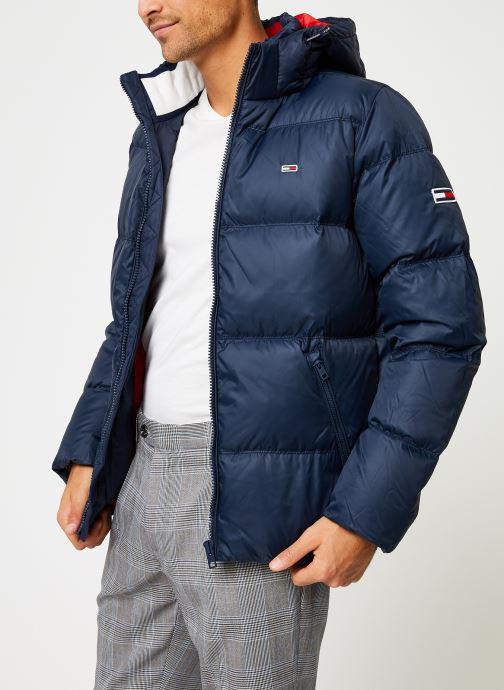 Vêtements Tommy Jeans TJM ESSENTIAL DOWN JACKET Noir vue droite