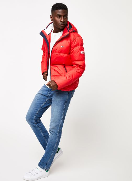 Vêtements Tommy Jeans TJM ESSENTIAL DOWN JACKET Rouge vue bas / vue portée sac