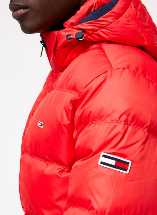Vêtements Tommy Jeans TJM ESSENTIAL DOWN JACKET Rouge vue face