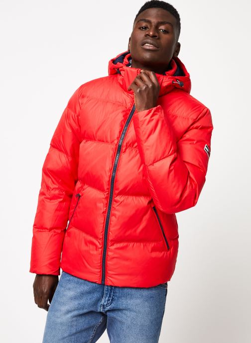Vêtements Tommy Jeans TJM ESSENTIAL DOWN JACKET Rouge vue détail/paire